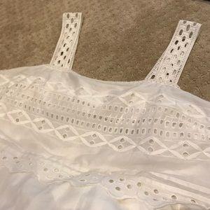 J. Crew White Eyelet Dress